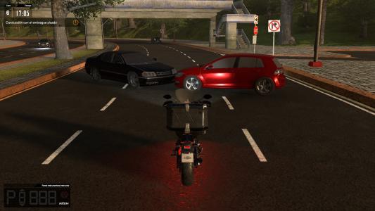 simulador de moto de policía