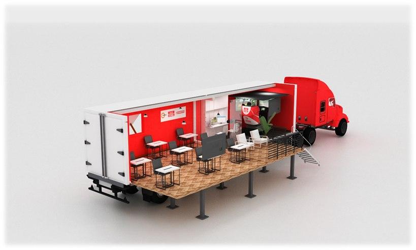 Aula móvil para simuladores de formación y capacitación