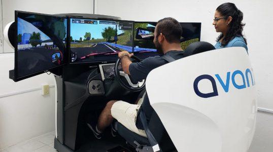 Simulador de coche para autoescuela