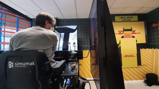 Simuladores de carretilla elevadora en DHL Portugal