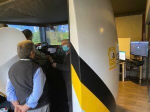 simulador de camión de alta inmersión en CEFEC Chile by Simumak