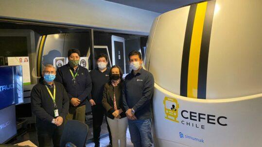 Simulador de vehículos pesados para capacitación en Chile