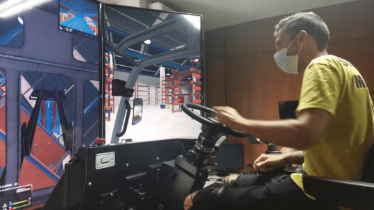 Curso PRL con simulador de carretilla elevadora Logsim