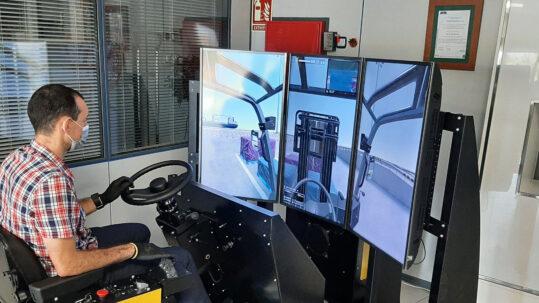 Logsim permite mejorar la formación y la PRL con carretilla elevadora