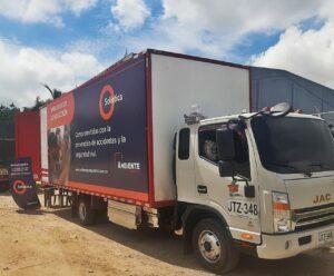 Simumak truck simulator mobile classroom with sophisticated coca-cola