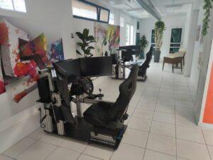 simulador de coche compacto para autoescuela